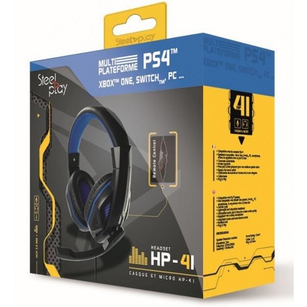 Steelplay Casti Gaming HP41 Compatibil PS4 Xbox Nintendo PC Negru 46500981
