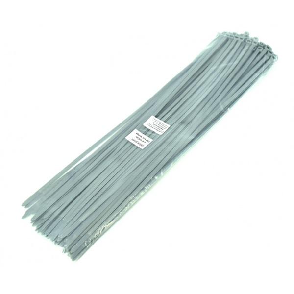 Colier Plastic Gri 4.8X400 Set 100 Buc