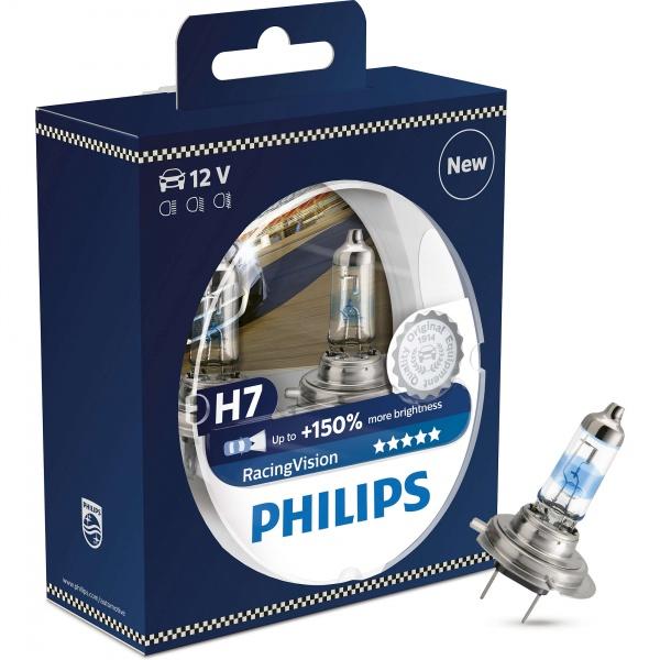 Bec Philips H7 12V 55W Racing Vision Set 2 Buc 12972RVS2