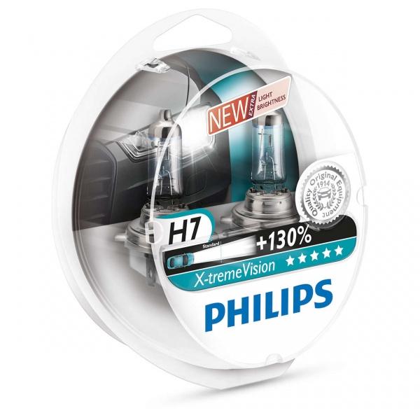 Bec Philips H7 12V 55W Xtremevision +130% Set 2 Buc 12972XV+S2