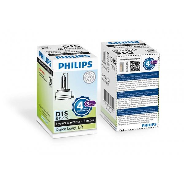 Bec Philips Xenon D1S Longerlife 35W 85V 85415SYC1 7 Ani Garantie !!!