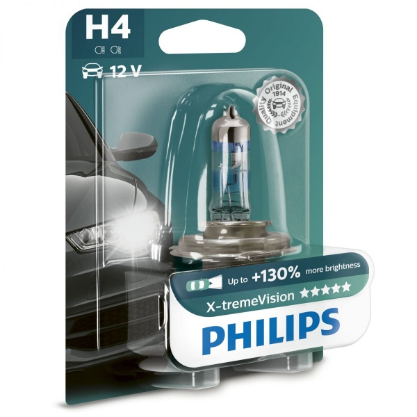 Bec Philips H4 P43T 12V 60/55W Xtremevision +130% 12342XV+B1