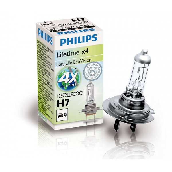 Bec Philips H7 12V 55W Longlife Ecovision X4 12972LLECOC1