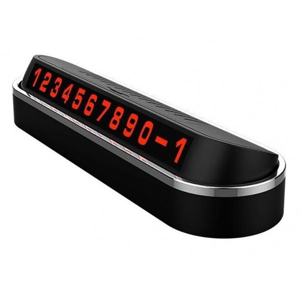 Suport Numar Telefon Negru Pentru Parcare Temporara Negru Inox Siegbert IT2190