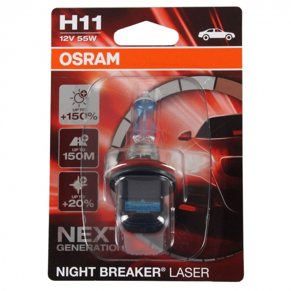 Bec Osram H11 12V 55W PGJ19-2 Night Breaker Laser Next Generation +150% 64211NL-01B
