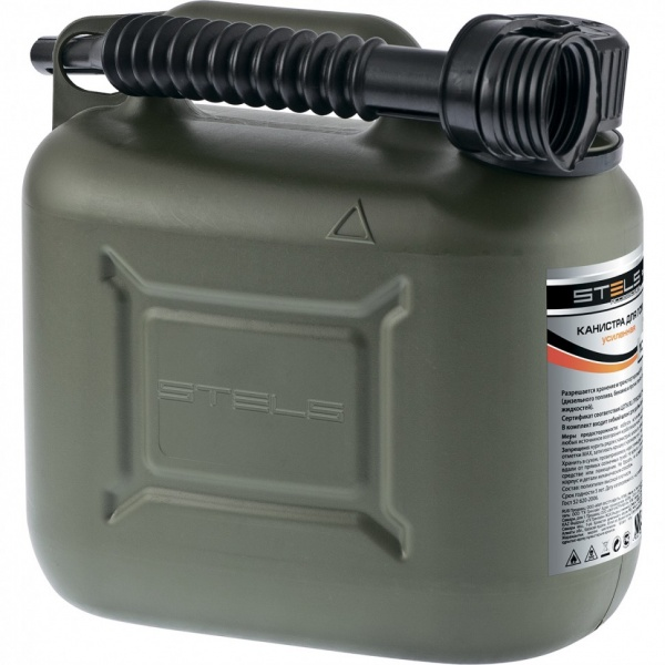 Canistra Pentru Combustibil Si Lubrifianti Verticala 5L Plastic Ranforsata Stels 53124