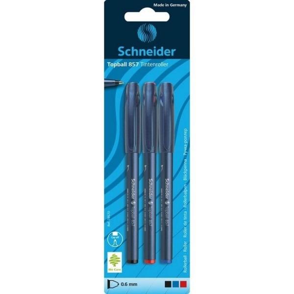 Schneider Set Roller Topball 857 Grosime Scriere 0.6 mm 3 Culori Scriere 3 Buc 32524678
