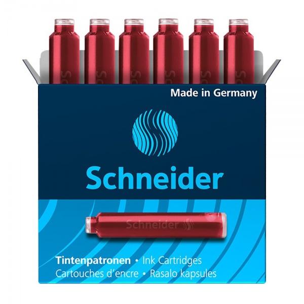 Schneider Set Patron Cerneala Cutie Cu 6 Bucati Rosu 748049