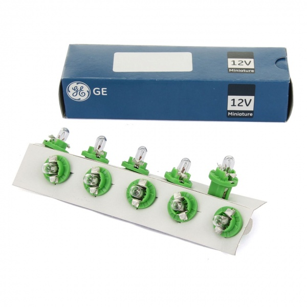 Set 10 Buc Bec General Electric GE B8.5D 12V 2W Verde GE 5303 PS