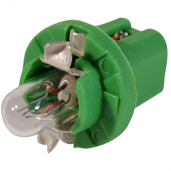 Bec General Electric GE B8.5D 12V 2W Verde GE 5303 PS