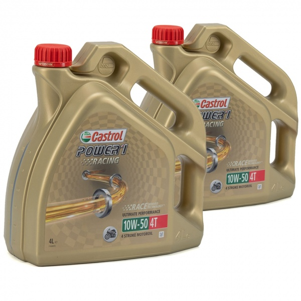Set 2 Buc Ulei motor Castrol Power 1 Racing 10W-50 4T 4L