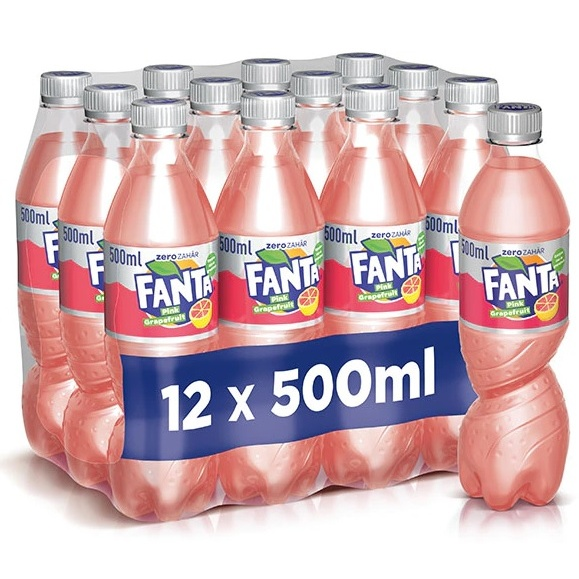 Bax 12 Buc Fanta Pink Grapefruit 500ML