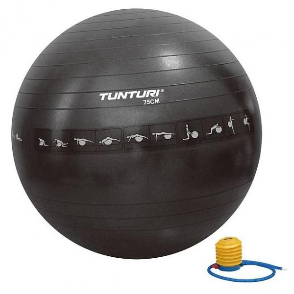 Minge Fitness / Yoga / Pilates Tunturi 75cm Negru Anti Burst 14TUSFU288
