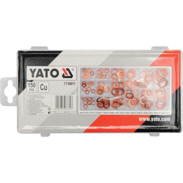 Set Saibe Cupru Yato 150 Buc YT06871