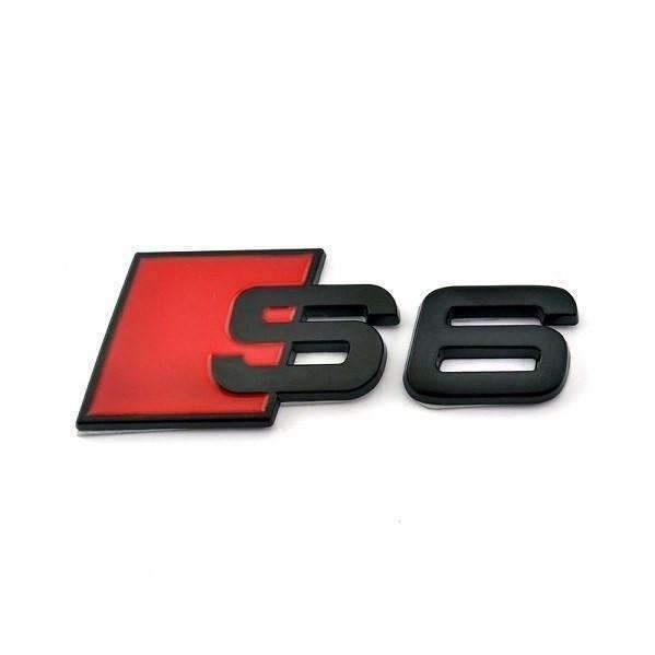 Emblema Audi S6 Negru