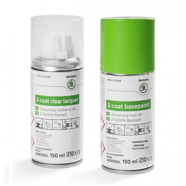 Set Spray Vopsea + Lac Oe Skoda Kiwi Green G6D/A6A6 000050200G6D