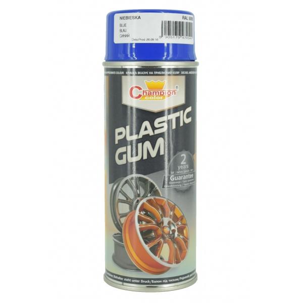 Spray Vopsea Champion Color Cauciucata Plastic Gum Albastru 400ML 5005