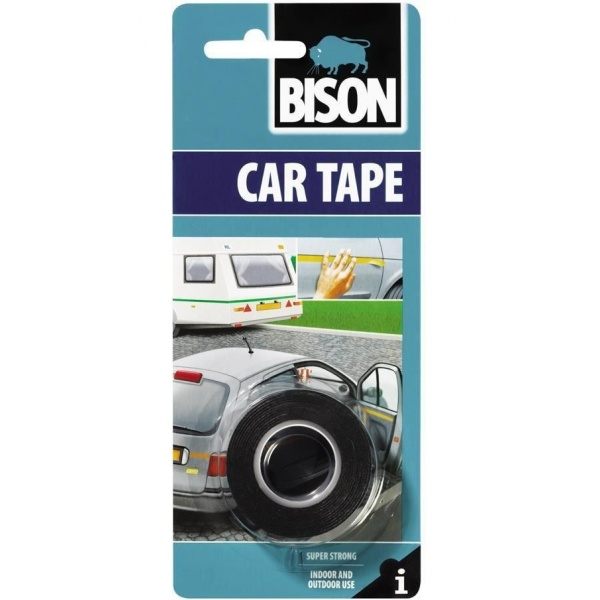 Bison Car Tape Banda Dubla Adeziva Neagra 1,5MX19MM 400030
