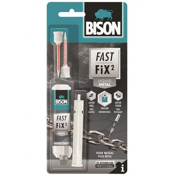 Bison Fast Fix Liquid Metal Adeziv Reparatii Bicomponent Rapid Si Puternic 10G 400057