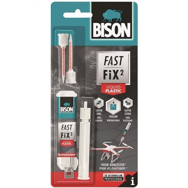 Bison Fast Fix Liquid Plastic Adeziv Reparatii Bicomponent Rapid Si Puternic 10G 400058