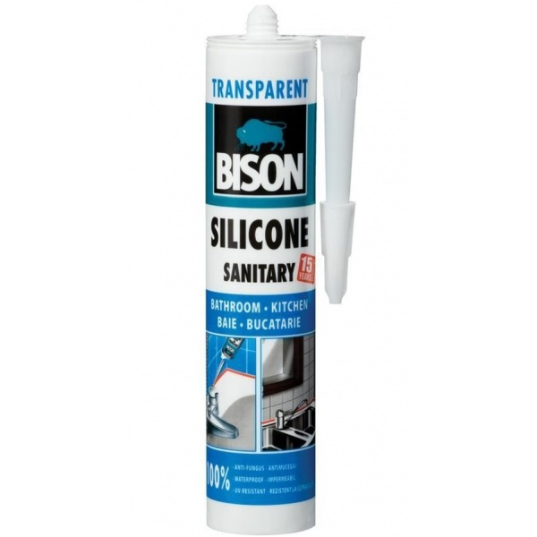 Bison Silicon Sanitar Transparent 280ML 423006