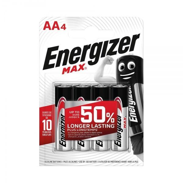 Set 4 Baterii Energizer Alcaline MAX R6/AA 30500006