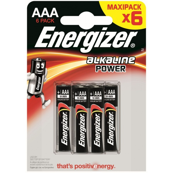 Set 6 Baterii Energizer Alcaline Power R03/AAA 30502652