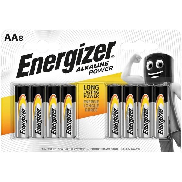 Set 8 Baterii Energizer Alcaline Power R6/AA 30502779