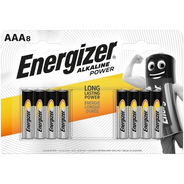 Set 8 Baterii Energizer Alcaline Power R03/AAA 30502780