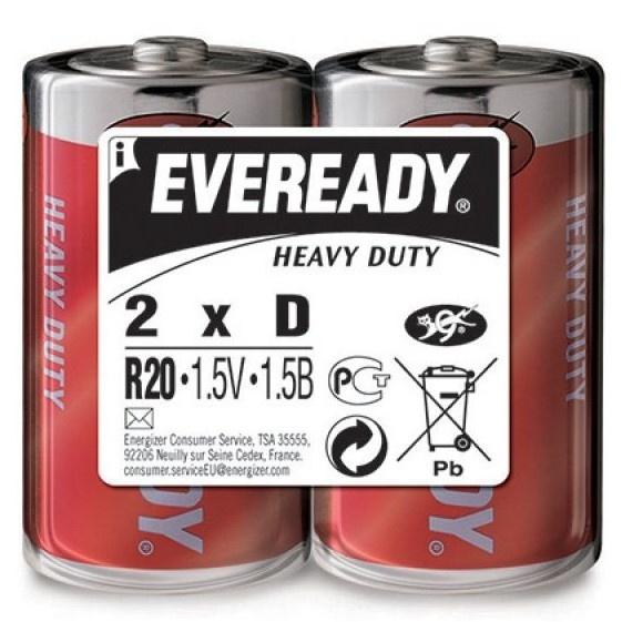 Set X 2 Baterii Energizer Eveready HD R20 32003993