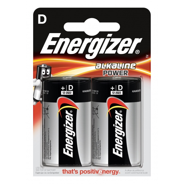 Set 2 Baterii Energizer Alcaline Power R20/D 32009874