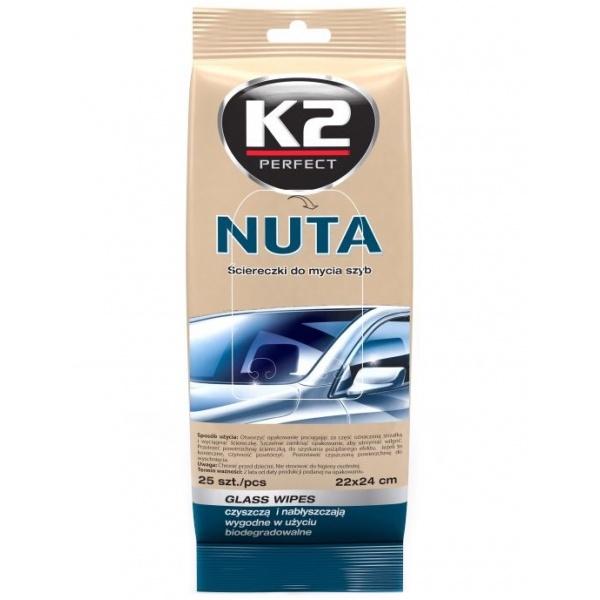 K2 Servetele Umede Curatat Geamuri Nuta 25 Buc K500