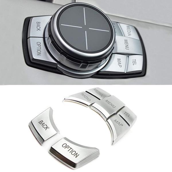 Set Capace Butoane Joystick Silver Compatibil Bmw Seria 1 F20 2010→ 8017