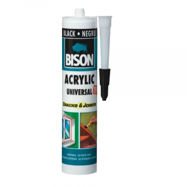 Bison Silicon Negru Acrylic 300ML