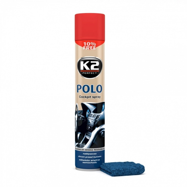 K2 Spray Silicon Polo Cockpit Capsuni + Laveta 750ML
