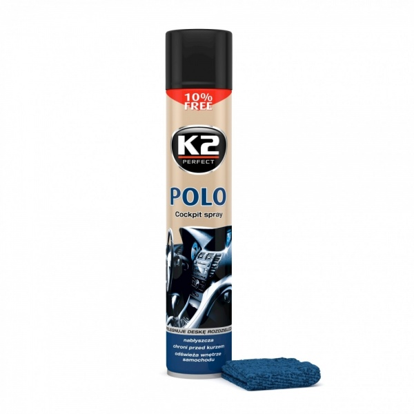 K2 Spray Silicon Polo Cockpit Fahren + Laveta 750ML