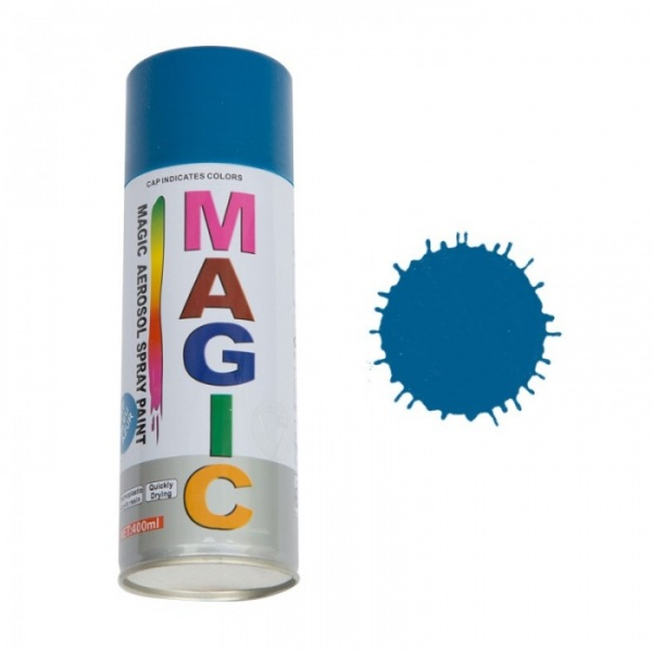 Spray Vopsea Magic Albastru Azur 400ML