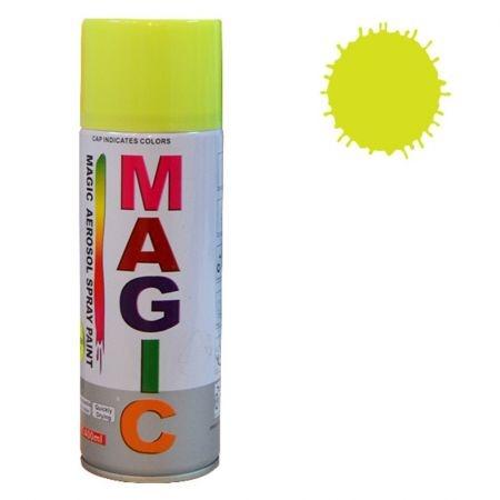 Spray Vopsea Magic Galben Fluorescent 400ML