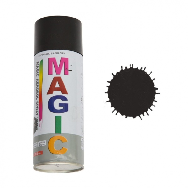 Spray Vopsea Magic Negru Mat 400ML