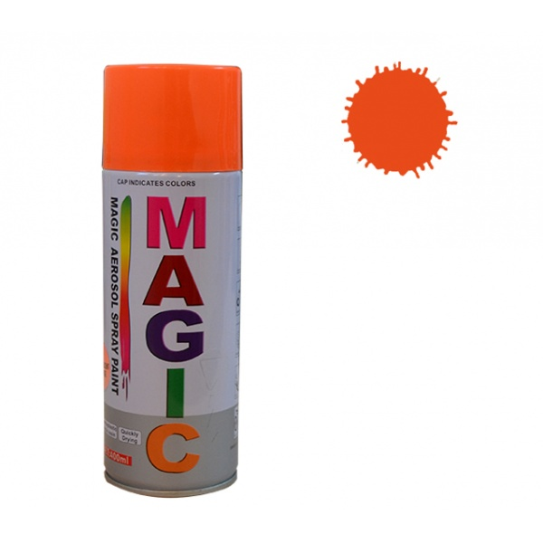 Spray Vopsea Magic Portocaliu Fluorescent 400ML