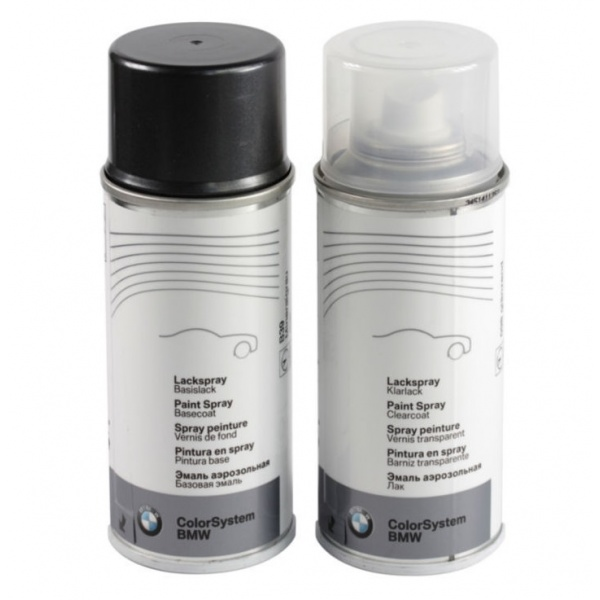 Set Spray Vopsea + Lac Oe Bmw Silber Grau Metalizat A08 51910301529