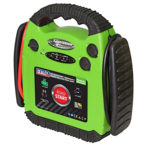 Robot Pornire Sealey 900A 12V RoadStart® Emergency Jump Starter Hi-Vis Green SEA RS1312HV