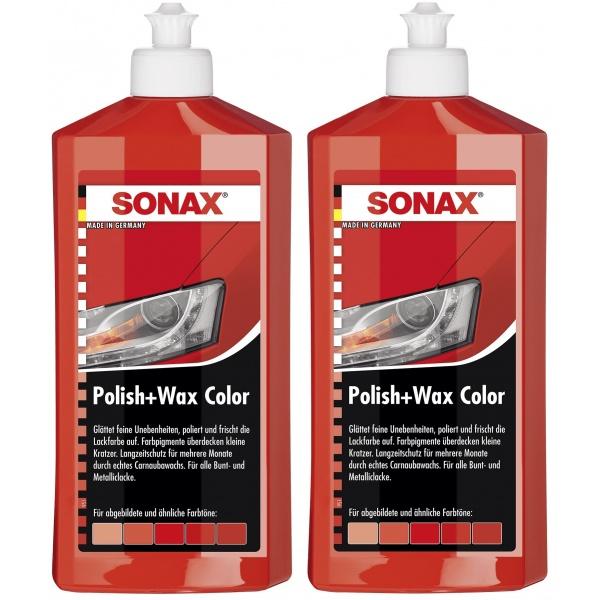 Pachet 2 Buc Sonax Polish & Ceara Rosu 296400 500ML