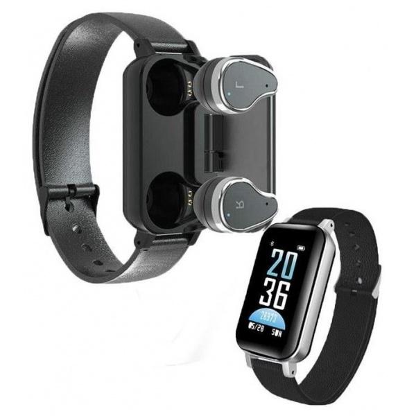 Bratara Fitness Cu Casti Wireless Bluetooth Monitor Ritm Cardiac Siegbert 999EL3010