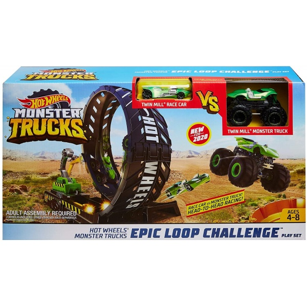 Hot Wheels Monster Trucks Set De Joaca Provocare Pe Pista 4-8 Ani 33529458