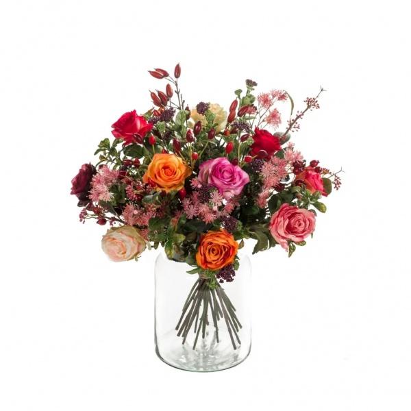 Buchet De Flori Artificial Flame Roses 423625