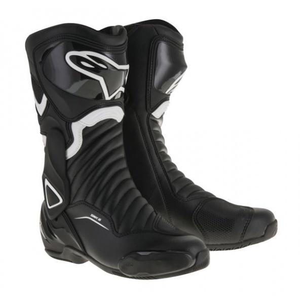Cizme Piele Moto Alpinestars Smx-6 V2 Negru / Alb Marimea 36 2223017/12/36