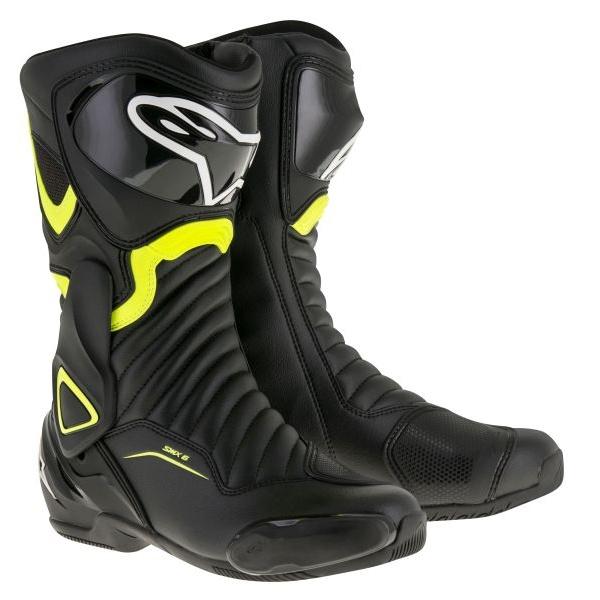 Cizme Piele Moto Alpinestars Smx-6 V2 Negru / Flourscent / Galben Marimea 41 2223017/155/41