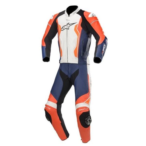 Costum Moto Alpinestars Gp Force Negru / Alb / Rosu / Portocaliu / Fosforescent Marimea 48 3160619/3124/48