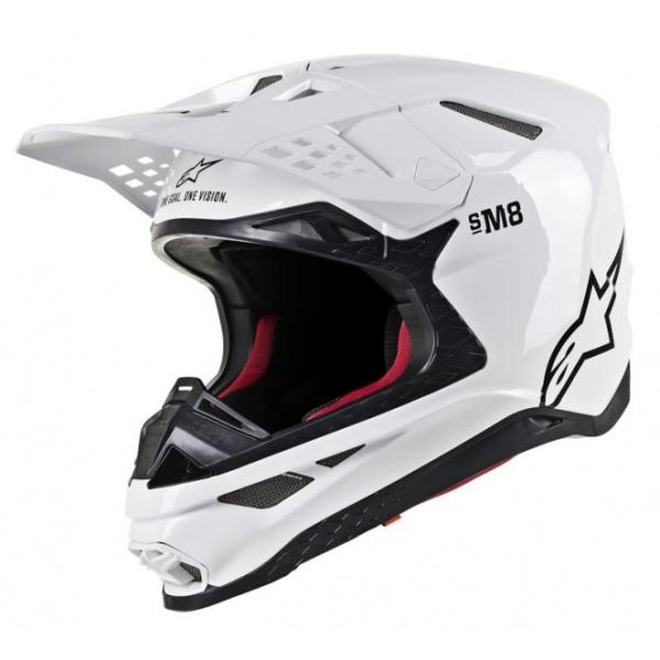 Casca Moto Alpinestars Supertech S-M8 Sold Alb Marimea XS 8300519/2180/XS